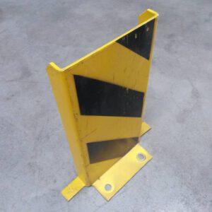 Aanrijdbeveiliging voor legbordstelling geel/zwart