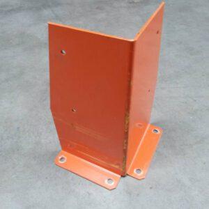 Aanrijdbeveiliging voor palletstelling oranje hoekopstelling