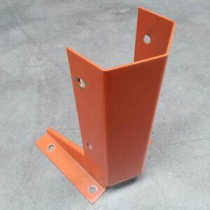 Aanrijdbeveiliging voor palletstelling staander oranje