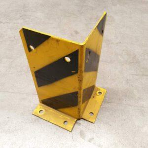 Aanrijdbeveiliging voor legbordstelling geel/zwart hoekopstelling
