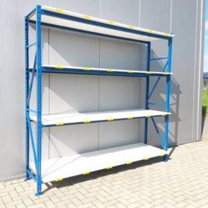 Blauwe Grootvakstelling, 205cm hoog, 4 borden van 80 x 250cm (Basis)