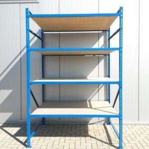 Blauwe Grootvakstelling, 250cm hoog, 4 borden van 120 x 160cm (Aanbouw)
