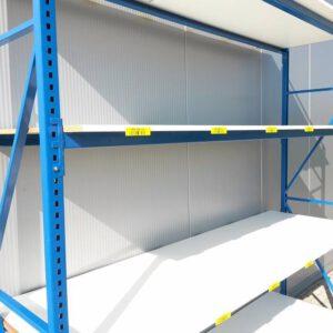 Blauwe Grootvakstelling, 205cm hoog, 4 borden van 80 x 250cm (Aanbouw)