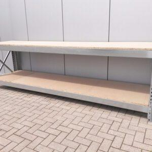 Werkbank 100cm hoog, 340cm breed, 80cm diep met 1 blad
