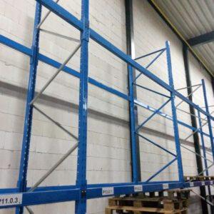 Dexion Speedlock staander, 315cm hoog, 100cm diep
