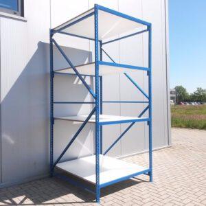 Blauwe Grootvakstelling, 300cm hoog, 4 borden van 150 x 125cm (Aanbouw)