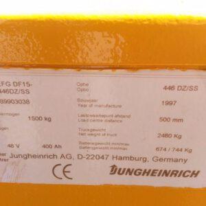 Jungheinrich Heftruck EFG DF15-446DZ/SS