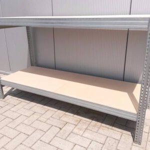 Werkbank 100cm hoog, 134cm breed, 60cm diep met 2 bladen